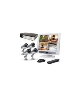 Sistem video Vidy cu DVR  VDVR4IC + 4 camere VIDY C550