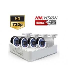 Sistem supraveghere Turbo HD Hikvision 4 camere exterior HD